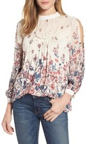 Lucky Brand Women's Placed Floral Print Top
