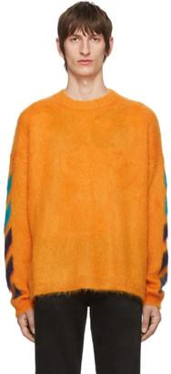 Off-White Orange Brushed Diag Sweater