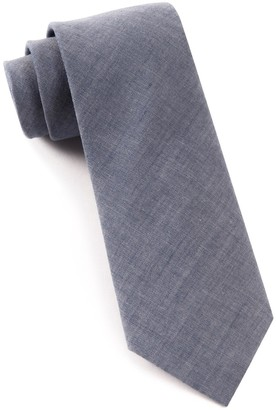 Tie Bar Classic Chambray Warm Blue Tie