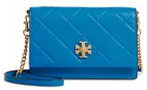 Tory Burch Mini Georgia Quilted Leather Shoulder Bag - Blue