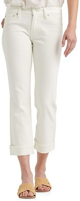 Lucky Brand Mid-Rise Sweet Straight Ankle Jeans in Bright White (Bright White) Women's Jeans