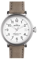 Shinola 'The Runwell' Leather Strap Watch, 38Mm