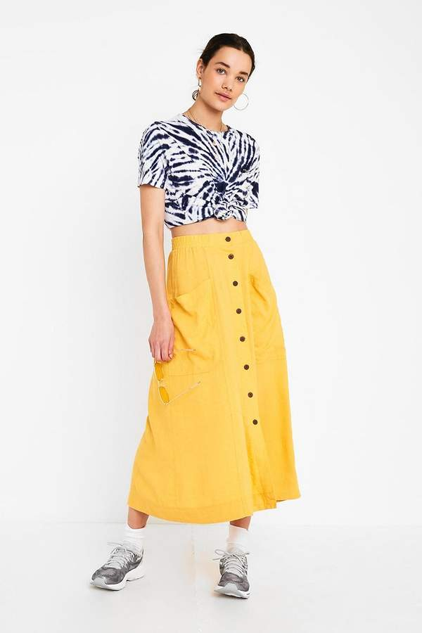 609e0099c Urban Outfitters Yellow Skirts - ShopStyle