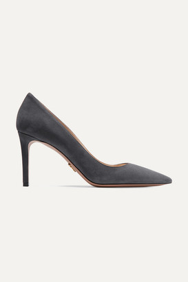 Prada 85 Suede Pumps - Anthracite
