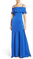 Shoshanna Women's Off The Shoulder Crepe Satin Gown