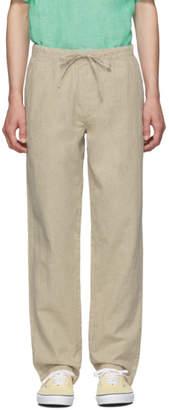 Onia Beige Linen Carter Trousers