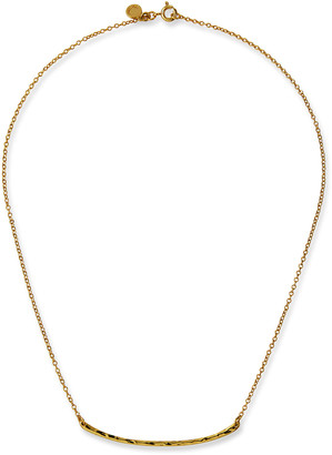 Gorjana Taner Small Hammered Golden Bar Necklace