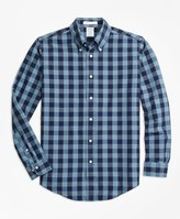 Brooks Brothers Milano Fit Indigo Gingham Sport Shirt