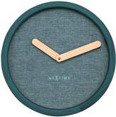 Nextime Calm Wall Clock, Turquoise, 30cm