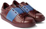 Valentino - Striped Leather Sneakers