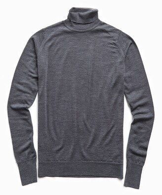 John Smedley Sweaters Easy Fit Turtleneck in Charcoal
