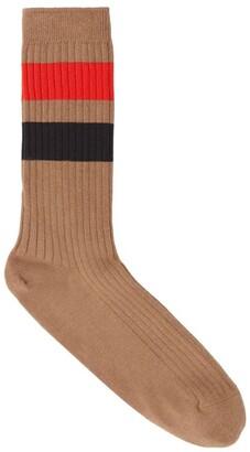 Burberry Striped Ribbed Socks