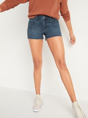 Old Navy Mid-Rise Boyfriend Cut-Off Jean Shorts for Women -- 3-inch inseam