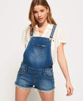 Superdry Denim Hot Short Dungaree