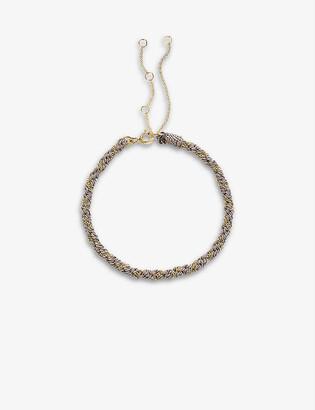 THE ALKEMISTRY Kumachi 18ct yellow-gold and silk cord bracelet