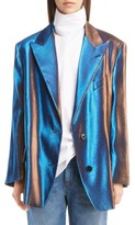 Dries Van Noten Women's Two-Tone Lame Blazer