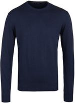 Hackett Dark Denim Crew Neck Pima Cotton Sweater