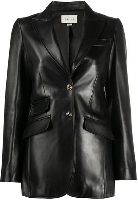 Gucci Lambskin Tailored Blazer