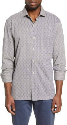 Bugatchi Regular Fit Knit Button-Down Shirt