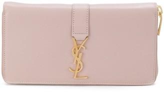 Saint Laurent large zipped wallet