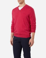 N.Peal The Burlington V Neck 1ply Cashmere Sweater