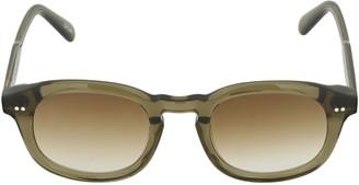 Chimi 102 Green Round Acetate Sunglasses