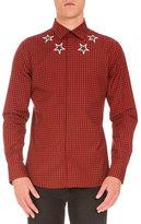 Givenchy Star-Print Buffalo-Check Shirt, Red