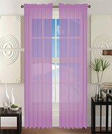 Elegant Comfort 2-Piece SOLID SHEER PANEL with 2inch ROD POCKET - Window Curtains 60-inch width X 84-inch Length - Lavender
