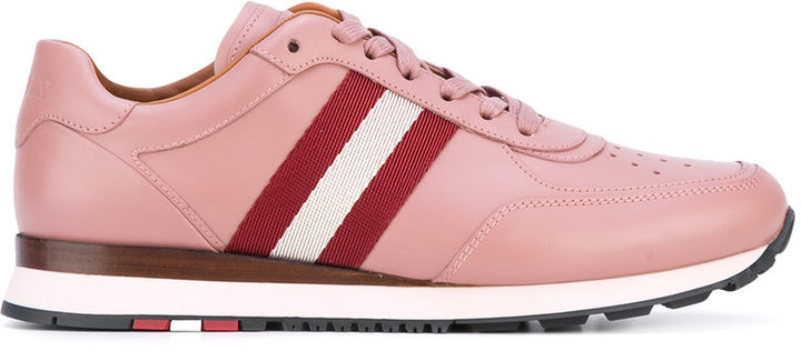 Bally stripe panel lace-up sneakers