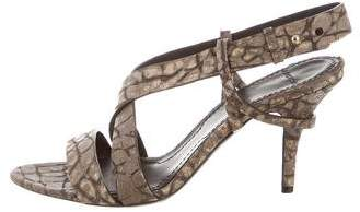 Givenchy Embossed Slingback Sandals