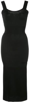Fleur Du Mal fitted knit midi dress