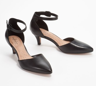 Clarks Collection Leather Two- Piece Pumps - Linvale Edyth
