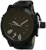 Adee Kaye Men's AK7211-MIPB BLKWHT Mondo-G2 Big Watch