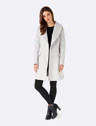 Forever New Donna skirt coat - Soft Grey - 12
