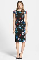 Betsey Johnson Women's Print Stretch Midi Dress