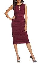 M.S.S.P. Stretch Lace Keyhole Midi Dress