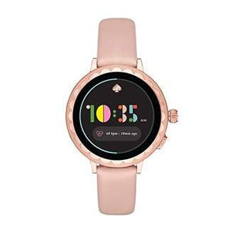 Kate Spade Women's Scallop 2 Stainless Steel Touchscreen smartwatch Watch with Leather Strap