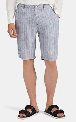 Onia Men's Austin Striped Linen Shorts - Blue