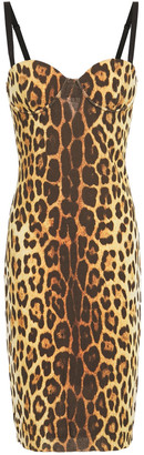 Moschino Leopard-print Crepe-jersey Dress