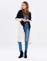 Living Doll Ombre Long-Line Cardigan