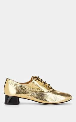 Repetto Women's Crinkled Leather Oxfords - Gold