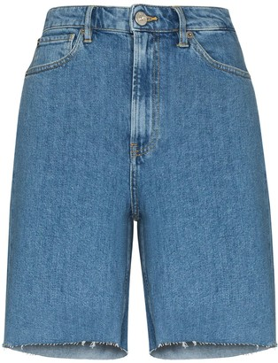 3x1 Claudia denim Bermuda shorts