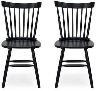 Sabrina Solid Wood Slat Back Side Chair Gracie Oaks Frame Color: Black