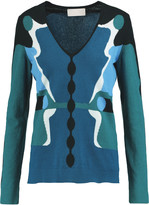 Peter Pilotto Intarsia-knit cotton, cashmere and silk-blend sweater