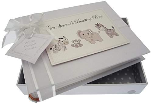 White Cotton Cards Grandparents Boasting Book Photo Album Toys Range Blue Gingham