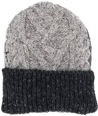 Thom Browne two-toned chunky knit beanie