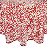 John Lewis Snow Berries Wipe Clean Round Tablecloth, Red/White, Dia.180cm