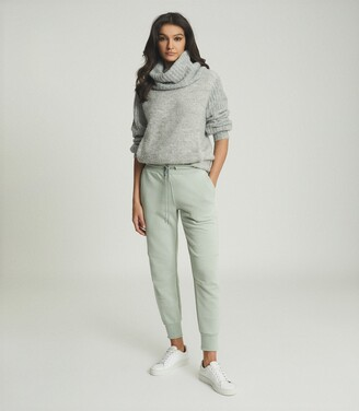 Reiss Delta - Jersey Joggers in Sage
