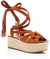 Sigerson Morrison Cosie Lace Up Espadrille Platform Sandals