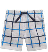 First Impressions Windowpane-Print Shorts, Baby Boys, Created for Macy's
